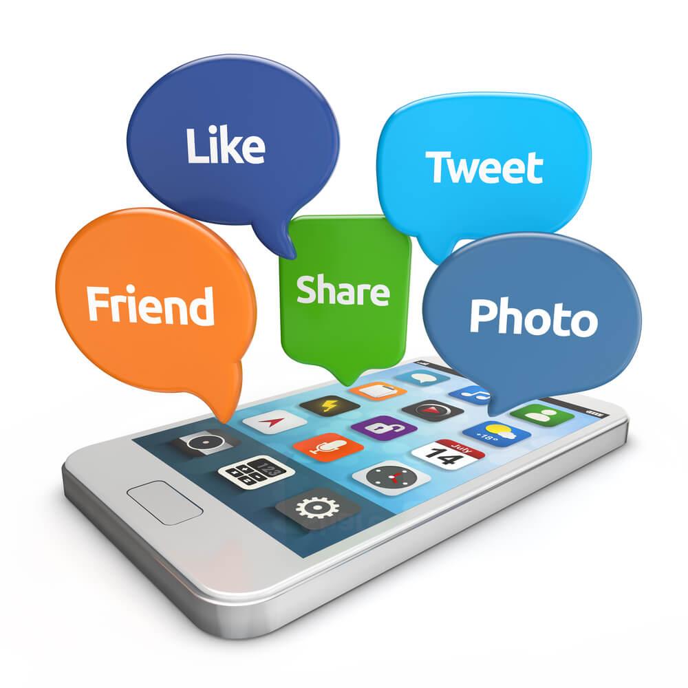 Social Media Like share comment